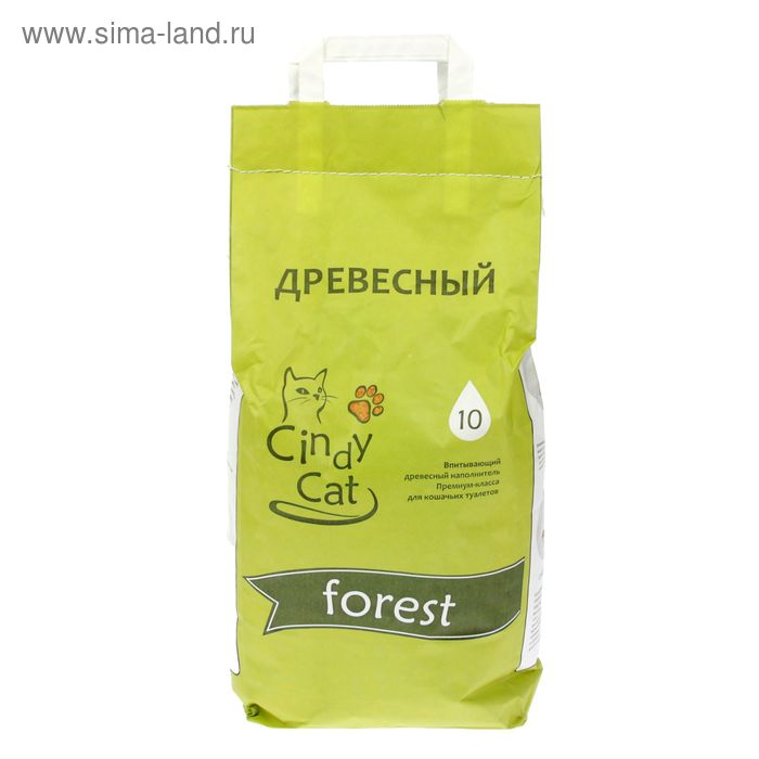 Наполнитель минеральный впитывающий Cindy Cat forest, 6 мм, 4,5 л