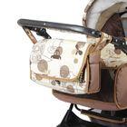 Коляска-трансформер «Гном», пластиковые колёса, оттенки бежевого, рисунок МИКС - фото 985240