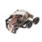 Коляска-трансформер «Гном», пластиковые колёса, оттенки бежевого, рисунок МИКС - фото 985241