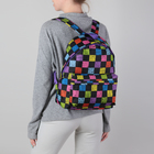 Рюкзак на молнии, 1 отдел, наружный карман, цвет чёрный/разноцветный