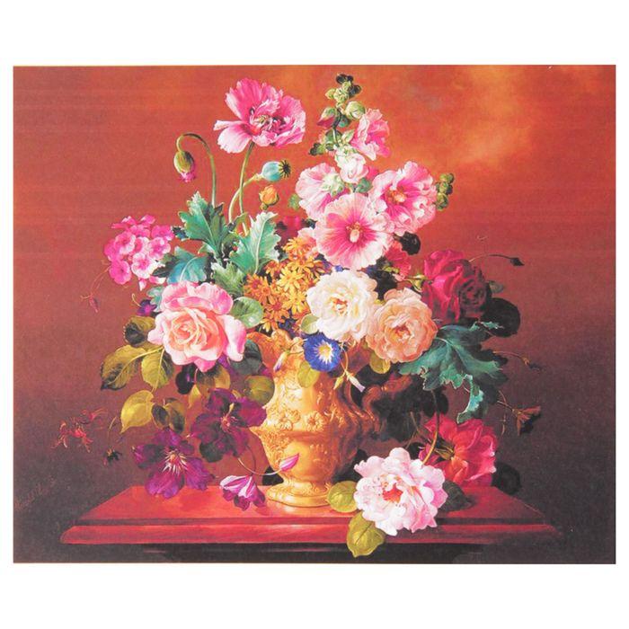 """Папертоль """"Цветы на коричневом"""" - фото 7455983"""