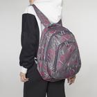 Рюкзак туристический, 2 отдела на молниях, 2 наружных кармана, цвет серый
