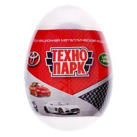 Машина металлическая в прозрачном яйце 7,5 см МИКС