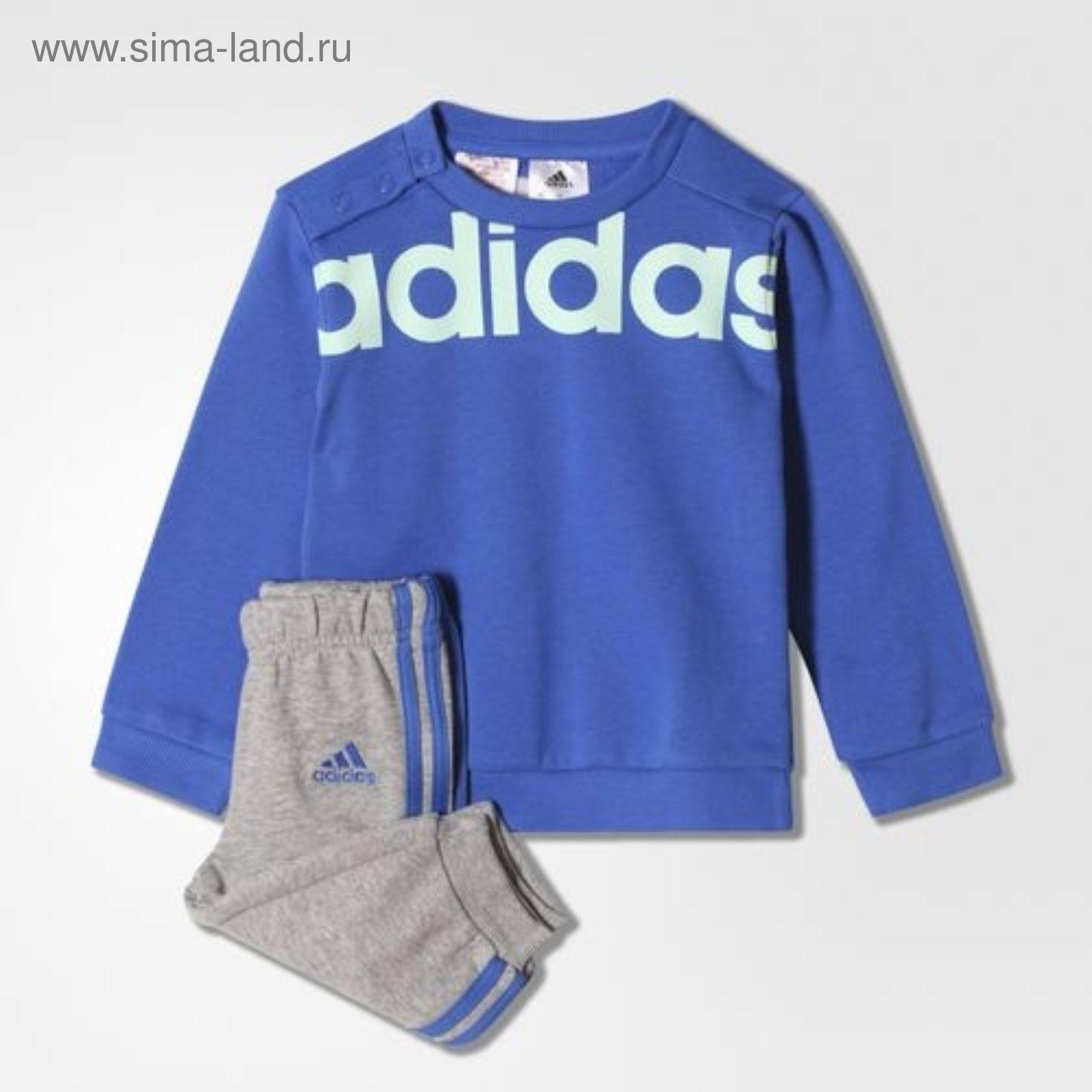 Спортивный костюм детский ADIDAS I ST TERRY JOGG BLUE RAYBLU (р.87 ... 19db186493d52