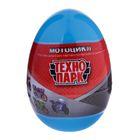 Мотоцикл металлический в яйце 7 см, МИКС