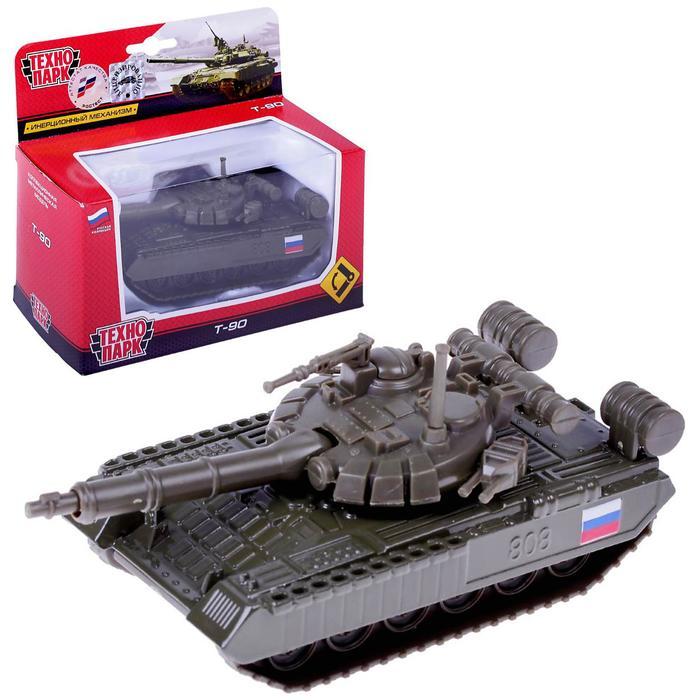 Танк металлический инерционный T-90, 12 см