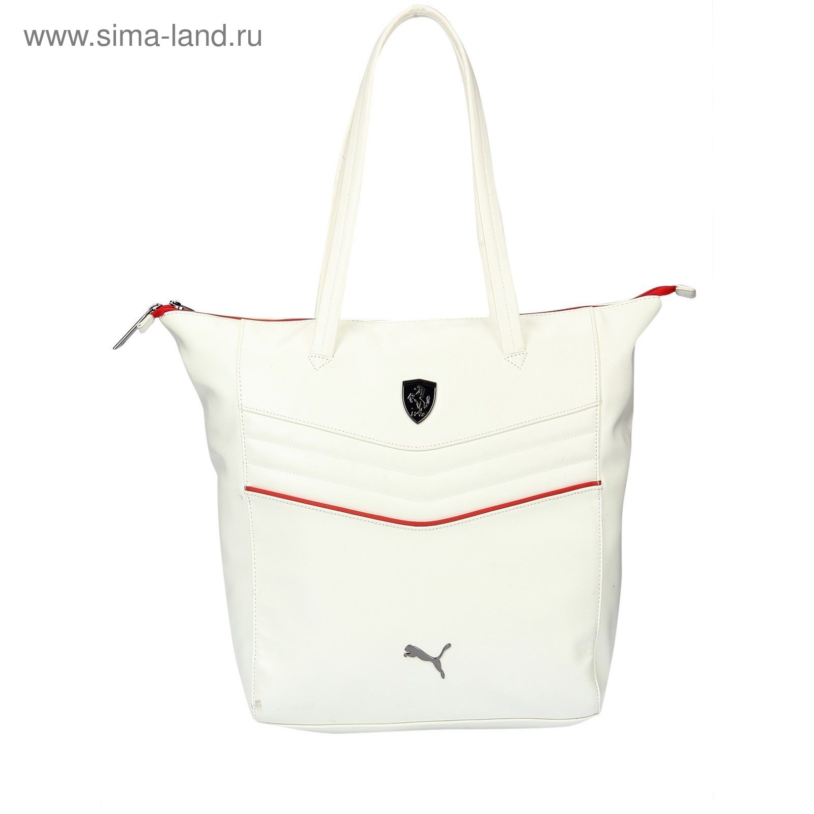 6cf76f6a5f30 Сумка женская PUMA Ferrari LS Shopper, цвет белый (2350319) - Купить ...