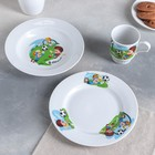 """Набор посуды """"Русское поле. Тренировка"""", 3 предмета: 2 тарелки 20 см, кружка 210 мл"""