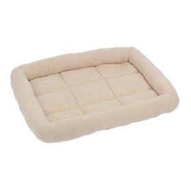 Лежанка стеганая, 52 х 37 х 9 см, мебельная ткань, микс цветов
