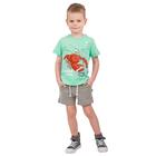 """Футболка для мальчика """"Рифы"""", рост 86 см (48), цвет бирюзовый, принт лангуст ПДК546001_М"""