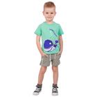 """Футболка для мальчика """"Рифы"""", рост 86 см (48), цвет бирюзовый, принт кит ПДК546001_М"""