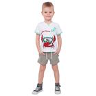 """Футболка для мальчика """"Рифы"""", рост 86 см (48), цвет белый, принт краб ПДК961001_М"""