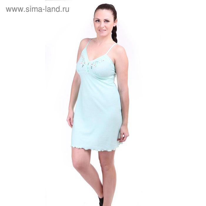 Сорочка женская Р309354 цвет зелёный, рост 158-164 см, р-р 50 (100) вискоза