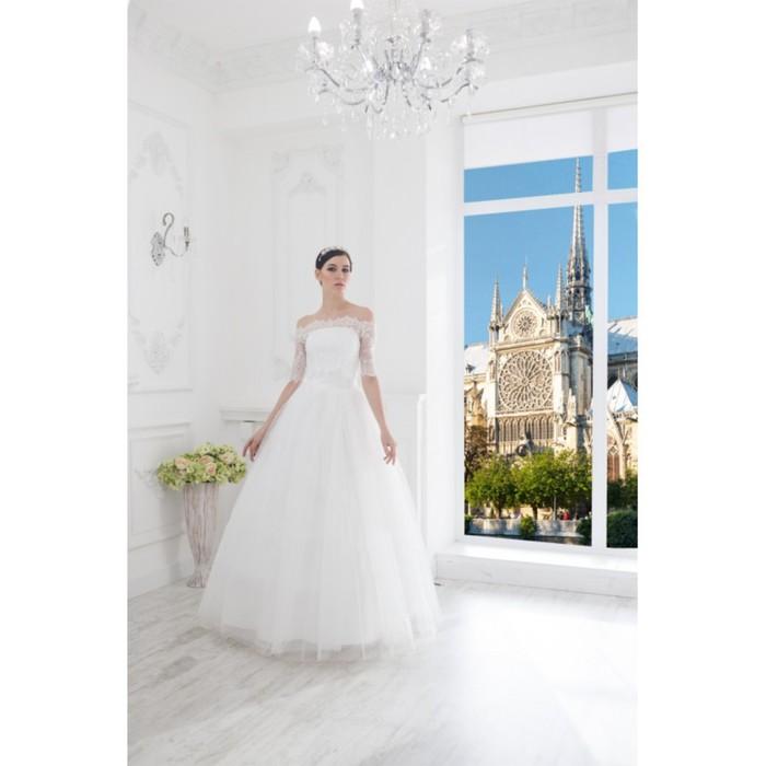 """Свадебное платье """"Элен Белла"""" без шлейфа, болеро Белла 46-48"""