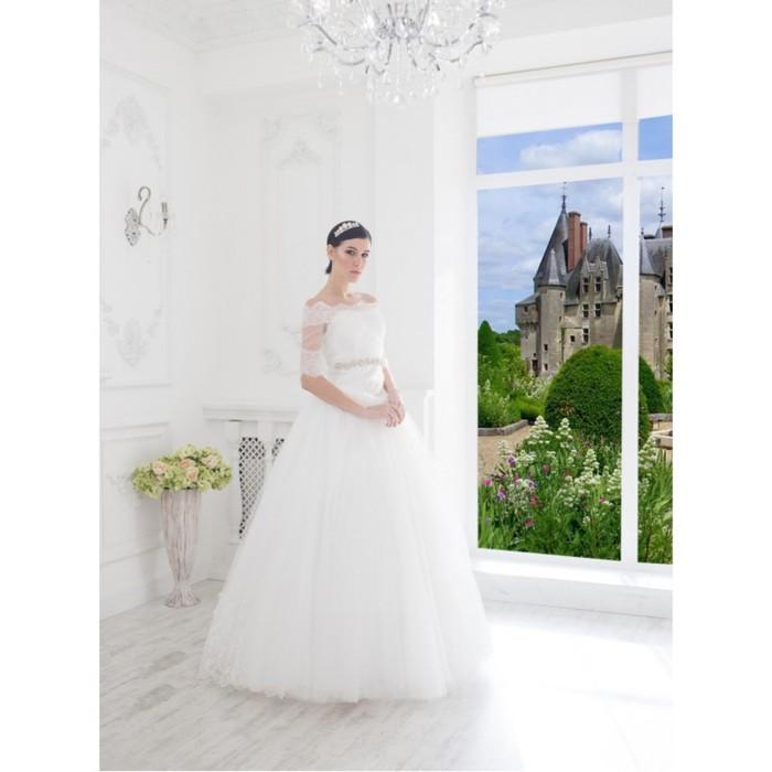 """Свадебное платье """"Элен Кармен"""" без шлейфа, болеро Кармен 46-48"""