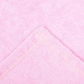 Набор для сауны Экономь и Я: полотенце- парео 68*150см + чалма, розовый, 100%хл, 320 г/м2 - фото 7256215