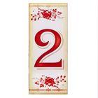 """Цифра дверная из дерева """"2"""", букет, 3*7 см"""