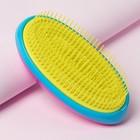 Расчёска массажная, цвет розовый/синий/жёлтый