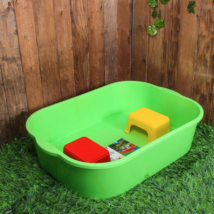 Набор для игры с песком: песочница 250 л, 2 табурета, пластик, зелёный
