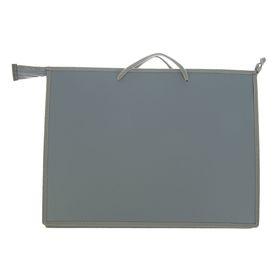 Папка А3, с ручками, пластиковая, молния сверху, 420 х 343 х 50 мм, «Оникс», ПР 3 -8, внутренний карман, цвет серый