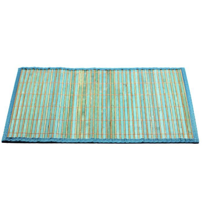 Подставка под горячие, бамбук, цвет голубой, 30 х 45 см
