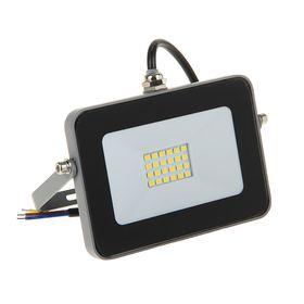 Прожектор светодиодный Ecola, 10 Вт, 220 В, 6000 K, IP65, Серебристо-серый 115x80x14 Ош