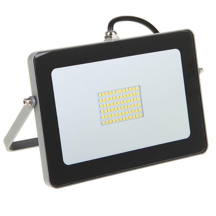Прожектор светодиодный Ecola, 30 Вт, 220 В, 4200 K, IP65, Серебристо-серый 188x132x17