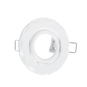 Светильник встр поворотный Ecola, MR16, DH07, GU5,3, Звезда (скрытый крепеж) Белый 25x88 Ош