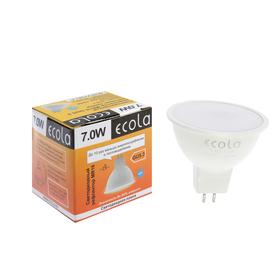 Лампа светодиодная Ecola, MR16, 7 Вт, 220 В, GU5,3, 4200 K, матовое стекло (композит) 48x50