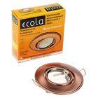 Светильник встр поворотный Ecola, MR16, DH03, GU5,3, выпуклый (скрытый крепеж) Медь 25x88
