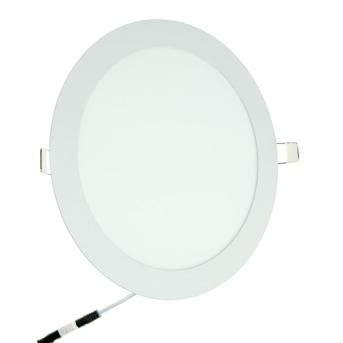 Панель светодиодная IN HOME RLP-eco, 18 Вт, 230 В, 4000 К, 1080 Лм, 225х18мм, круглая, белая