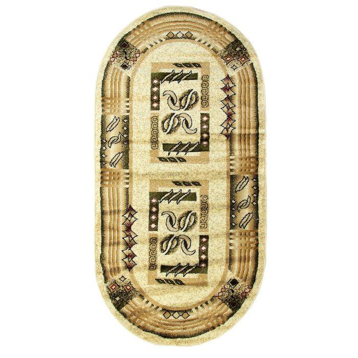 Овальный ковёр Antiq Imperial 3885, 100 х 200 см, цвет krem/krem - фото 7929043