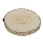 Aspen is cut, sanded one side, diameter 15-20 cm, thickness 2-3 cm