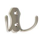 Крючок двухрожковый 58, маленький, матовый никель