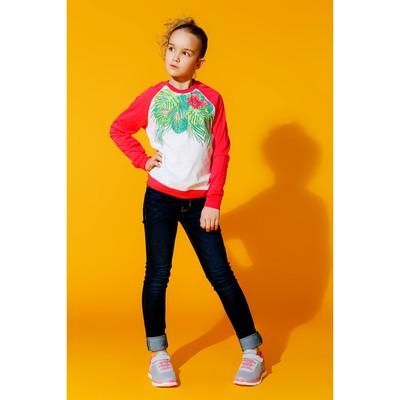 Джемпер для девочки, рост 158 см, цвет арбузный 170214