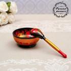 """Set """"Socket with spoon"""", 10×4×10 cm, Khokhloma"""