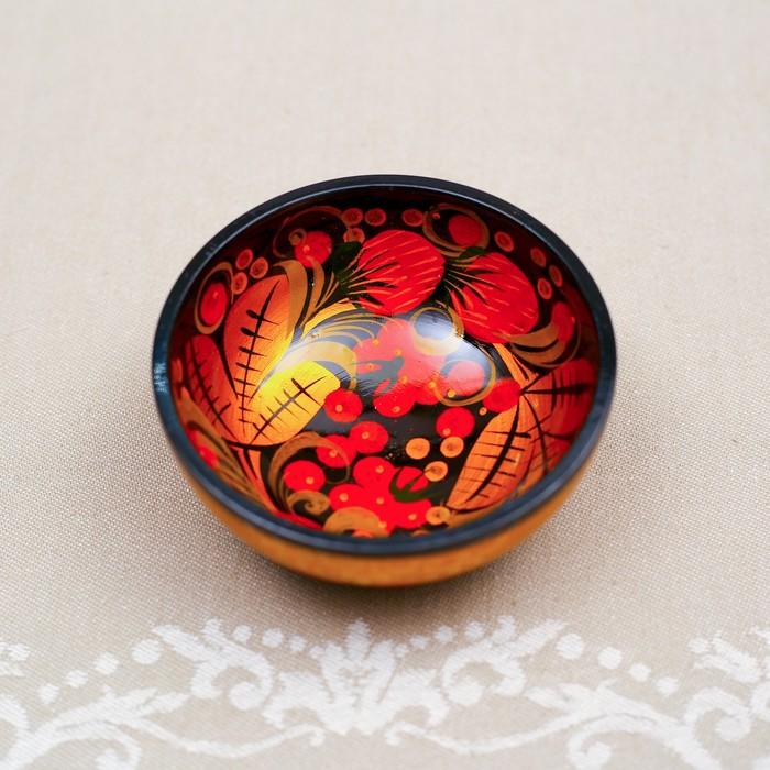 Набор «Розетка с ложкой», 10×4×10 см, хохлома