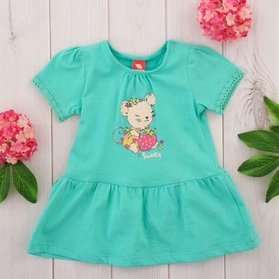 Платье детское, рост 62 см, цвет бирюзовый