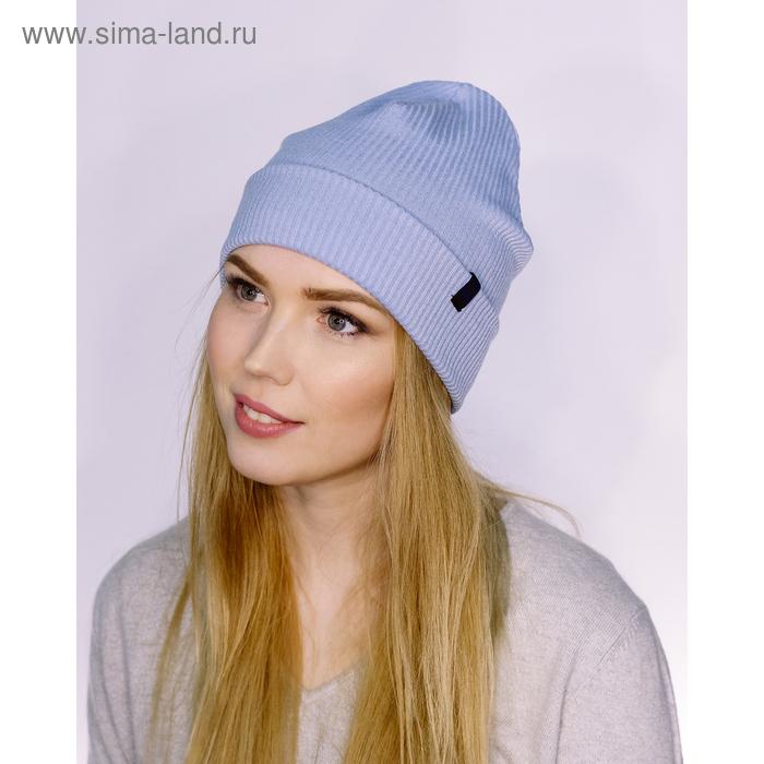 """Шапка женская """"М-160"""" демисезонная, размер 56-58, цвет голубой (арт. 2808441)"""
