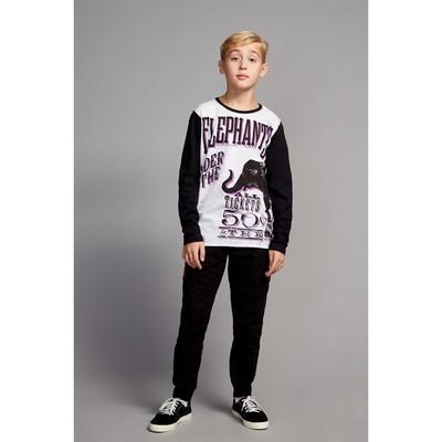 Джемпер для мальчика, рост 158 см, цвет чёрный 170222
