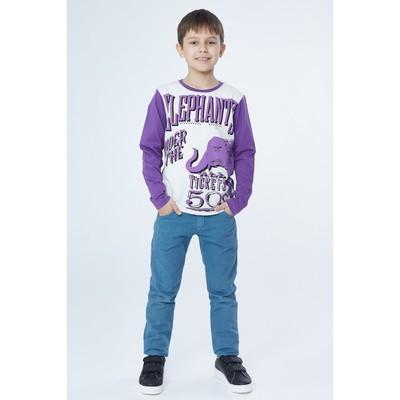 Джемпер для мальчика, рост 164 см, цвет фиолетовый 170222