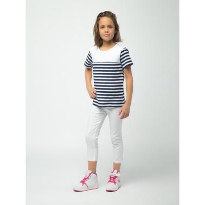 Бриджи для девочки, рост 140 см, цвет белый 170207