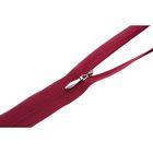 Молния ZZD, потайная, 55см, цвет бордовый