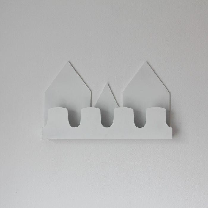 Полка-домик «Верона», деревянная, белая, 40х25х5 см