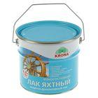 Лак защитно-декоративный яхтный Krona, бесцветный, 2,7 л