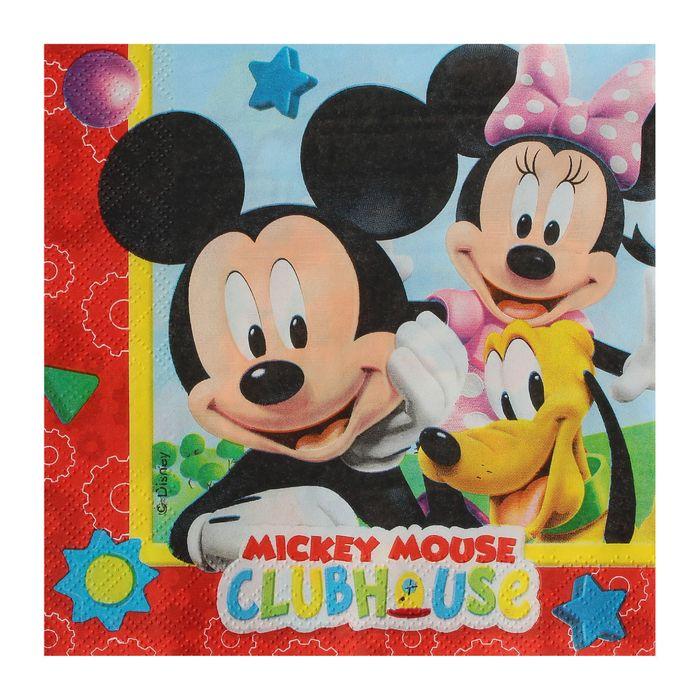 """Салфетки бумажные """"Игривый Микки Маус"""", набор 20 шт., 33 × 33 см"""
