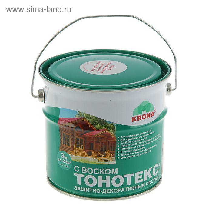 Состав защитно-декоративный для древесины Тонотекс Krona, рябина, 3 л