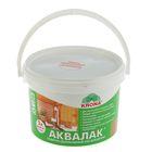 Лак защитно-декоративный для древесины Аквалак Krona, ореховое дерево, 3 л