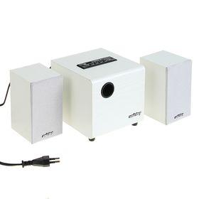Компьютерные колонки 2.1 SmartBuy SPARTA SBA-210, 2х2 Вт+8 Вт, MP3, FM, 220 В, белые