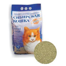 Наполнитель комкующийся Сибирская кошка 'Прима' для кошек, 5л Ош